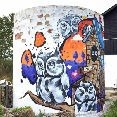 Silo Mural with Reks