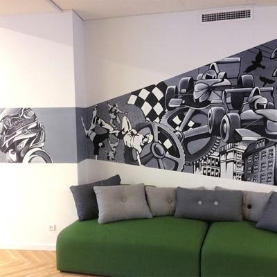 Stine Hvid Red Bull mural lounge