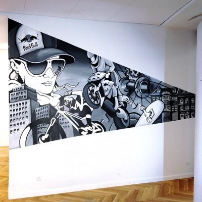 Stine Hvid Red Bull mural vægmaleri