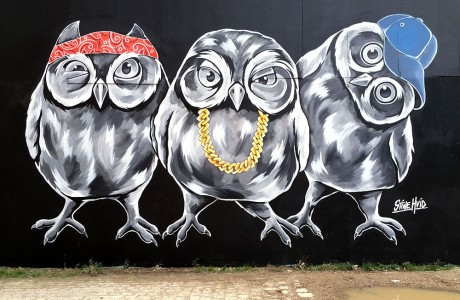 Stine Hvid owl squad streetart