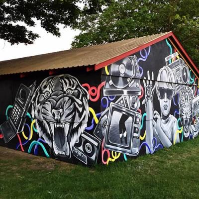"""""""Stine Hvid streetart mural Roskilde Festival 2015"""""""
