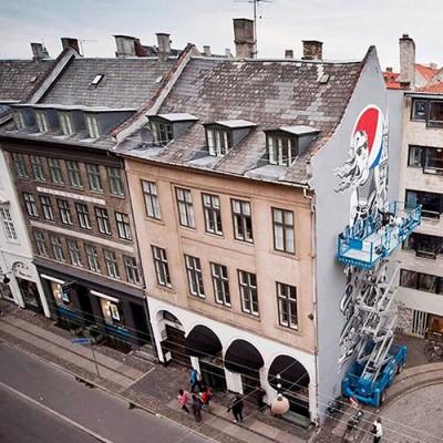Stine Hvid Pepsi Max mural