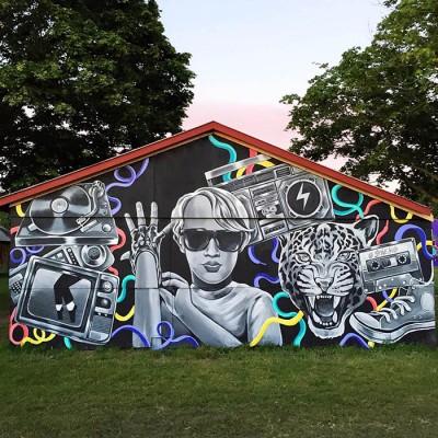 """""""Street art Stine Hvid Roskilde Festival 2015"""""""