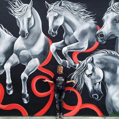 Stine Hvid horses street art