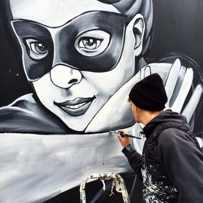 Stine Hvid street art mural