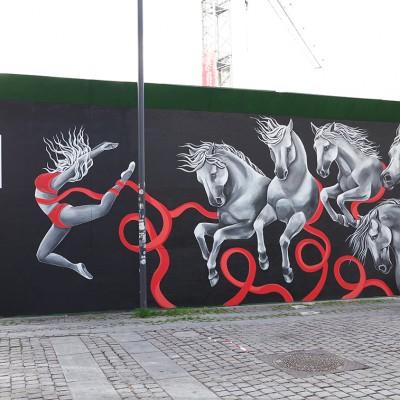 Stine Hvid mural Metrohegn Kongens Nytorv