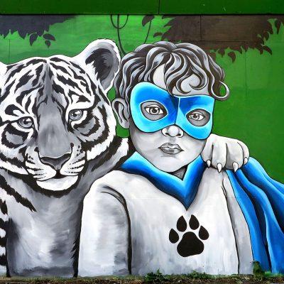 Stine Hvid Tiger Super Kid Mural