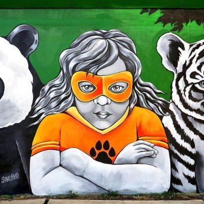 Stine Hvid  / street art / mural / vægmaleri / maleri