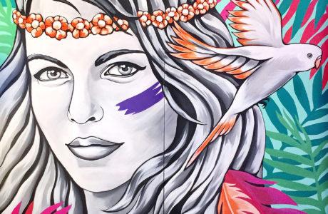 Stine Hvid Organic-Boho muralart