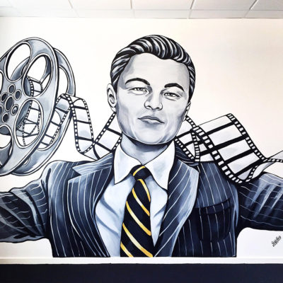 leonardo dicaprio mural stine hvid