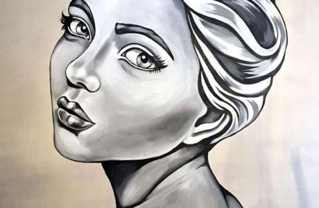 stine hvid mural boulebar wall art