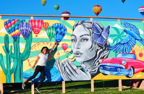 stine hvid mural usa street art