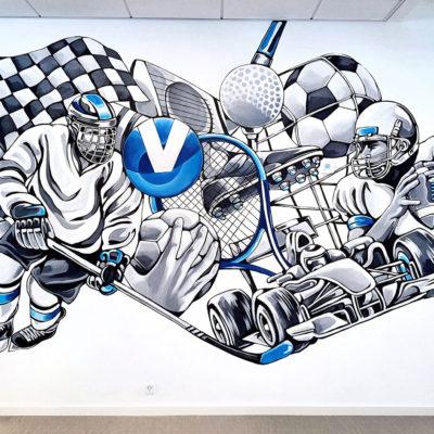 stine hvid viasat sport mural
