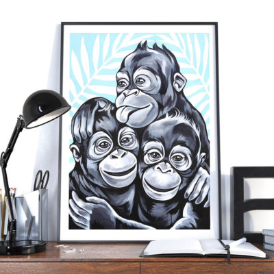 stine hvid monkey buddies poster