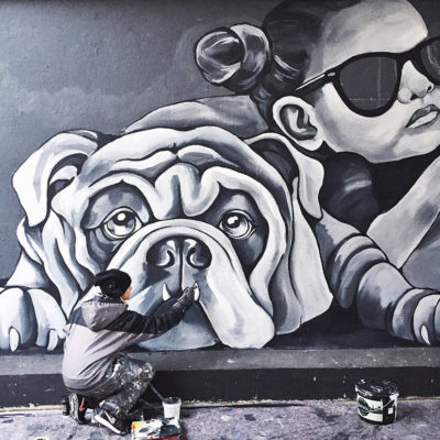 stine hvid street art process