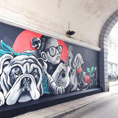 Stine Hvid street art west end mural