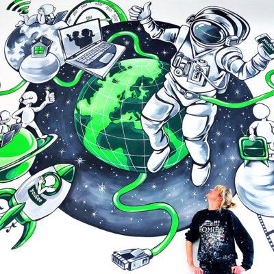 Yousee mural Stine Hvid
