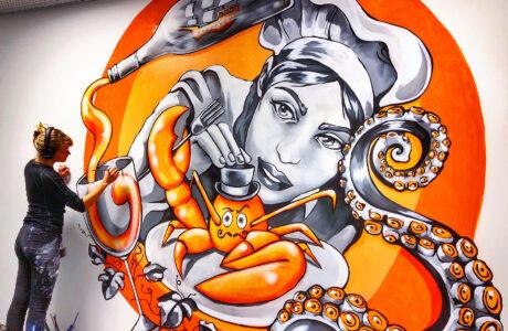 stine-hvid-Zitcom-gourmet-mural-streetart