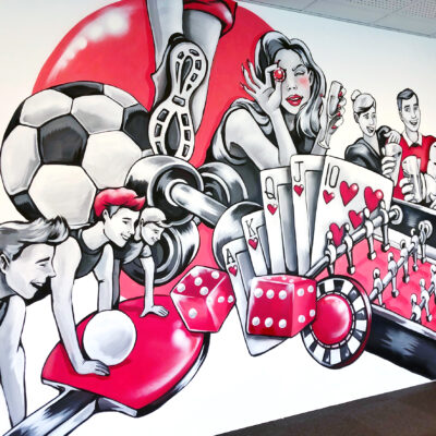 stinehvid_Zitcom_mural_vægmaleri