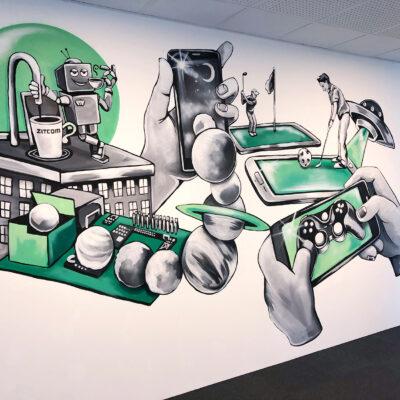 stinehvid_Zitcom_room_mural